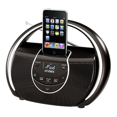 Jensen iPod and MP3 Player Portable Dock and Radio