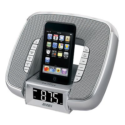 Jensen iPod and MP3 Player Dock and Dual Alarm Clock Radio with Gradual Daylight Lamp