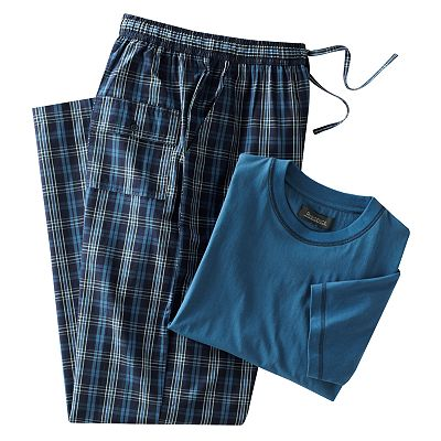 Residence Tee and Striped Lounge Pants Pajama Set - Big and Tall
