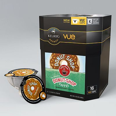 Keurig Vue Pack Coffee People Donut Shop Coffee - 16-pk.
