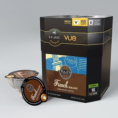 Keurig Vue Pack Tully's Coffee French Roast Coffee - 16-pk.
