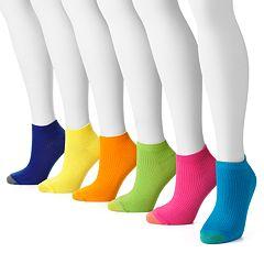 GOLDTOE 6 pkRibbed Low-Cut Socks