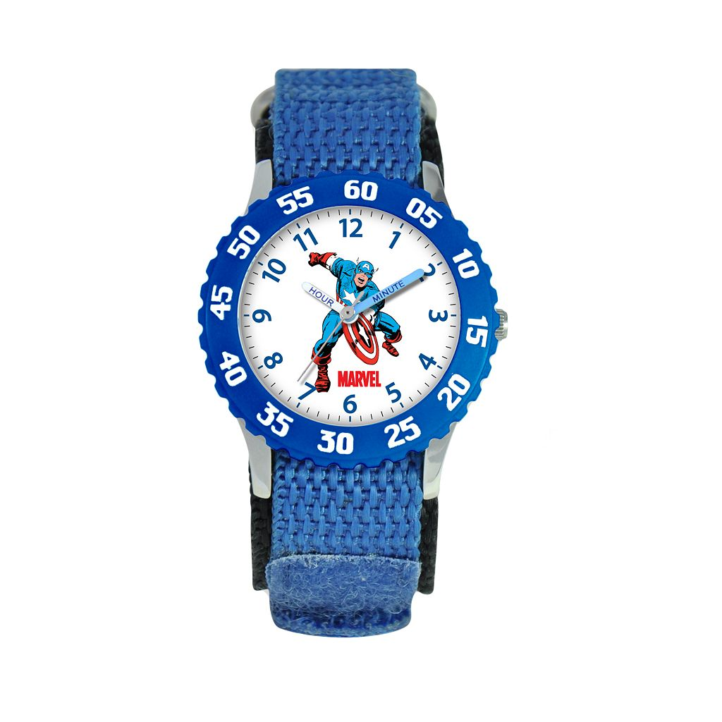 Marvel Captain America Time Teacher Stainless Steel Watch - Kids