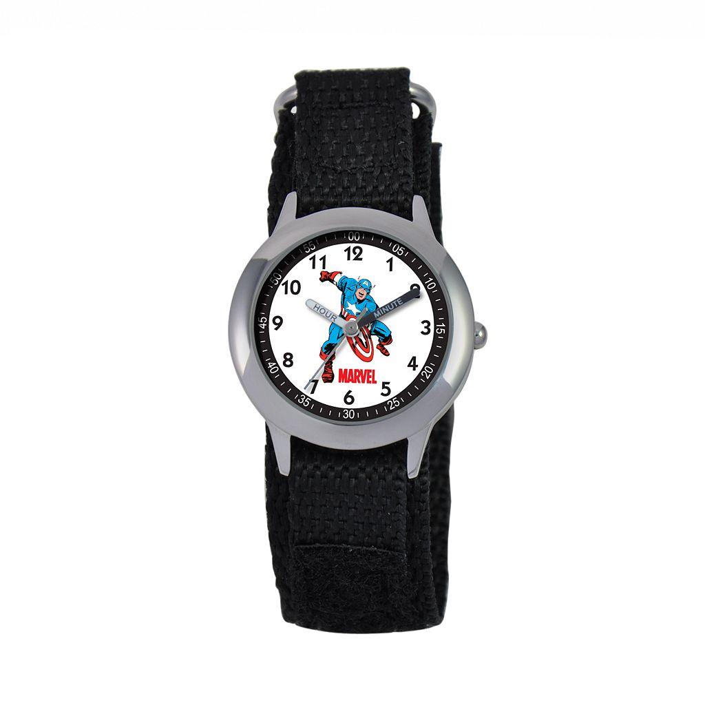 Marvel Captain America Time Teacher Stainless Steel Watch