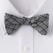 Croft and Barrow Plaid Pretied Bow Tie