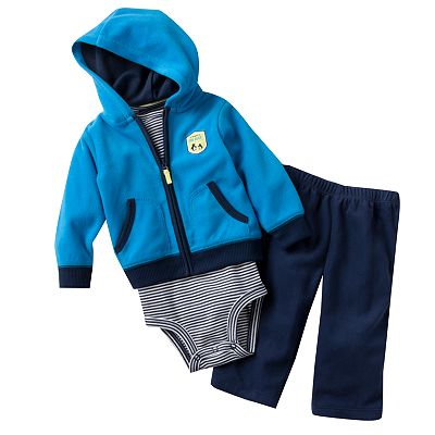 Carter's My Mommy is the Best Microfleece Hooded Cardigan Set - Baby