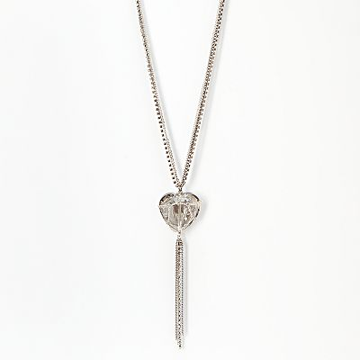 Simply Vera Vera Wang Two Tone Simulated Crystal Heart Pendant