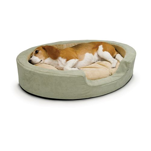 """K&H Pet Thermo-Snuggly Sleeper Oval Pet Bed - 24"""" x 21"""""""