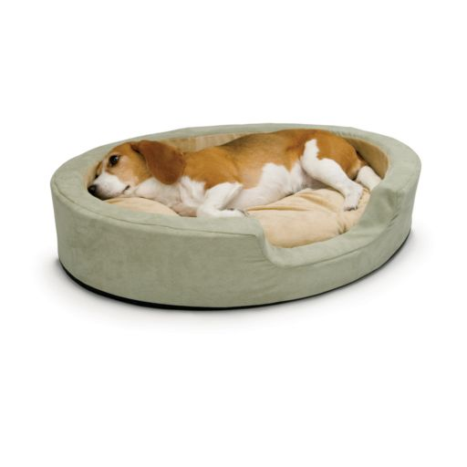 K and H Pet Thermo-Snuggly Sleeper Oval Pet Bed - 24'' x 21''