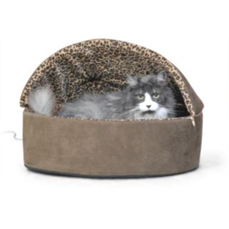 K and H Pet Thermo-Kitty Hooded Round Pet Bed - 16''