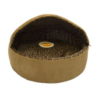 K and H Pet Thermo-Kitty Hooded Round Pet Bed - 20''