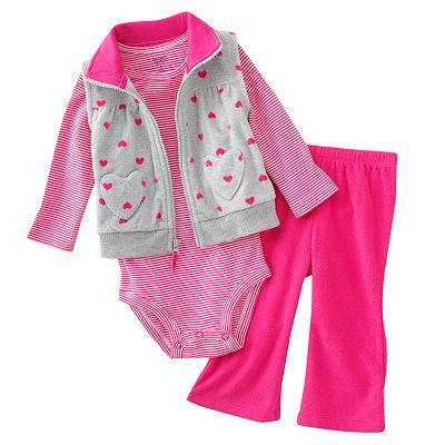 Carter's Heart Microfleece Vest Set - Baby