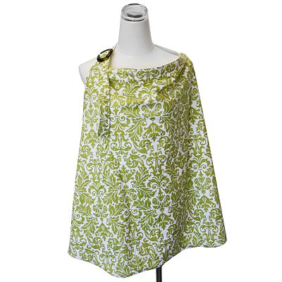 Itzy Ritzy Avocado Damask Nursing Cover