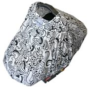 Itzy Ritzy Licorice Swirl Peek-A-Boo Pod Car Seat Cover