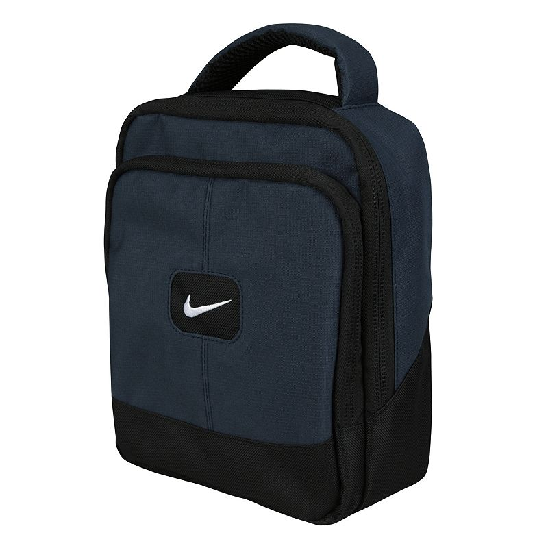 Nike Insulated Lunch Tote, Blue Take your lunch to go in this Nike insulated tote. Its dual-compartment design is ideal for separately packing up all your lunchtime favorites, including sandwiches, drinks, snacks and more. For work, travel and more, you'll love using this Nike insulated lunch tote. Insulated design helps keep foods warm or cold for longer periods of time. Signature Swoosh logo adds sporty appeal. Sturdy construction ensures lasting use. Details: 9 1/2H x 8W x 4D Zipper closures Model no. 9A2360A-695 Size: One Size. Color: Blue.