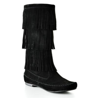 LC Lauren Conrad Fringed Midcalf Boots - Women