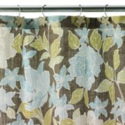Croft and Barrow Flora Fabric Shower Curtain