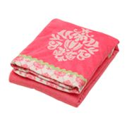 Banana Fish Fuchsia Damask Fancy Blanket