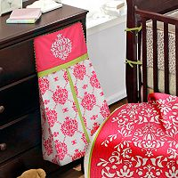 Bananafish Fuchsia Damask Diaper Stacker