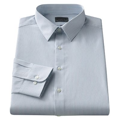 Arrow Slim-Fit Striped Spread-Collar Dress Shirt