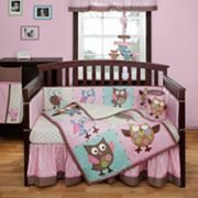 Banana Fish Calico Owls 4-pc. Crib Bedding Set