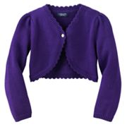 Chaps Scalloped Knit Shrug - Toddler