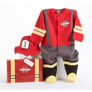 Baby Aspen Big Dreamzzz Baby Firefighter Bodysuit Gift Set - Baby