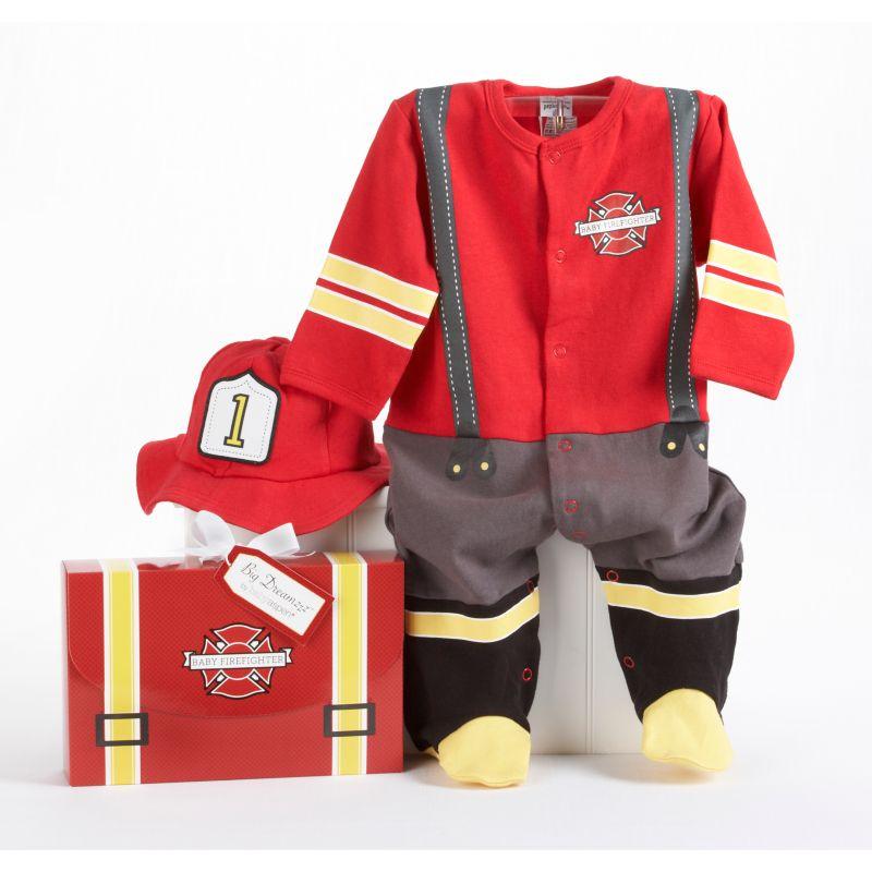 Baby Aspen Big Dreamzzz Baby Firefighter Bodysuit Gift Set - Baby, Infant Boy's, Size: 0-6 Months, Multicolor