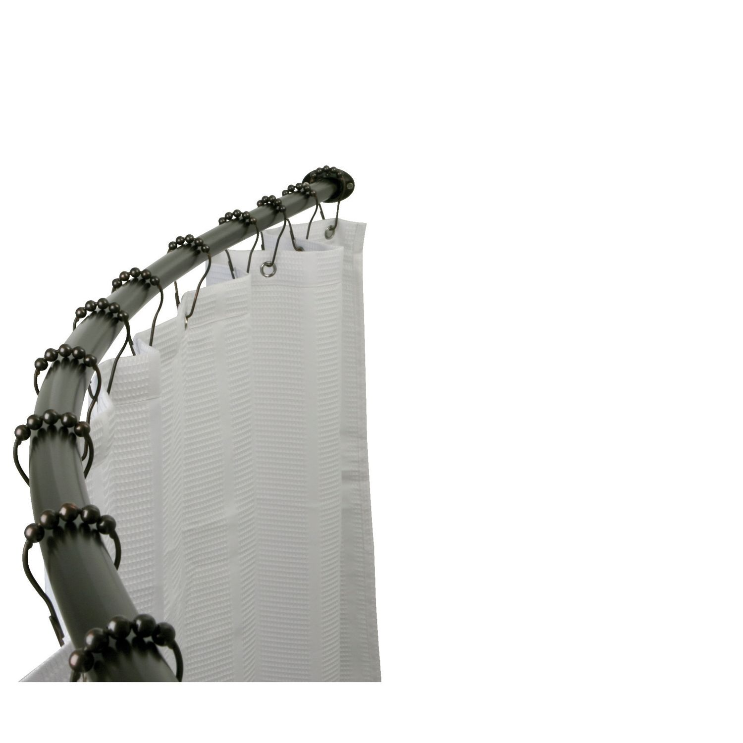 hotel space plus curved shower curtain rod