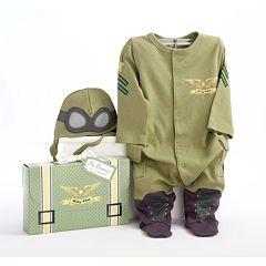 Baby Aspen Big Dreamzzz 'Baby Pilot' Bodysuit Gift Set - Baby