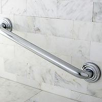 Chrome-Finish Bathtub Grab Bar - 18''