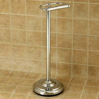Classic Pedestal Chrome-Finish Toilet Paper Holder