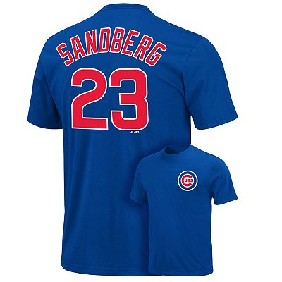 Majestic Chicago Cubs Ryne Sandberg Cooperstown Tee - Big and tall