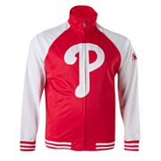 Majestic Philadelphia Phillies Cap Tricot Track Jacket - Big and Tall