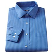 Croft and Barrow Non-Iron Slim-Fit Striped Spread-Collar Dress Shirt