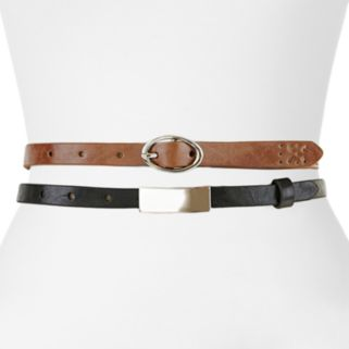 Apt. 9® Plaque Skinny Belt Set