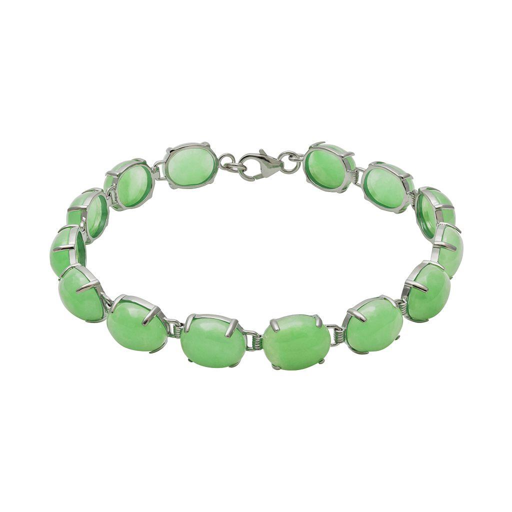 Sterling Silver Jade Bracelet