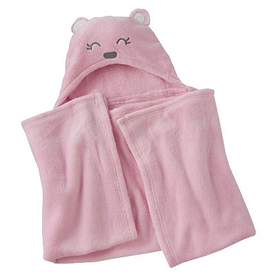 Carter's Bear Plush Hooded Blanket