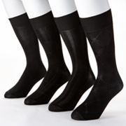 Croft and Barrow 4-pk. Microfiber Solid Fashion Socks