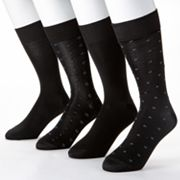 Croft and Barrow 4-pk. Microfiber Fashion Socks