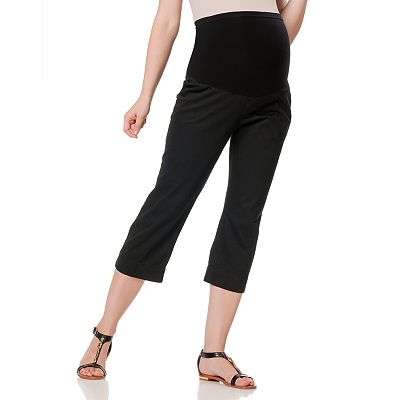 Oh Baby by Motherhood Secret Fit Belly Twill Capris - Maternity