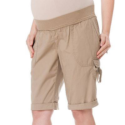 Oh Baby by Motherhood Underbelly Cuffed Cargo Bermuda Shorts - Maternity