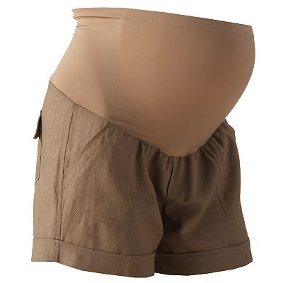Oh Baby by Motherhood Secret Fit Belly Linen Shorts