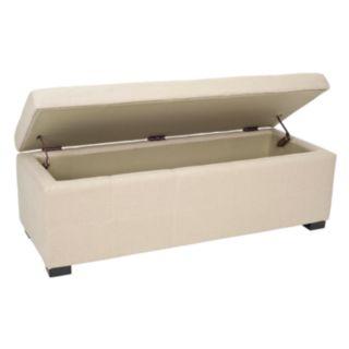 Safavieh Vivienne Large Beige Tufted Storage Bench