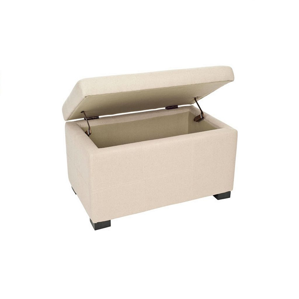 Safavieh Vivienne Small Tufted Beige Storage Bench