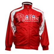 Majestic Philadelphia Phillies Colorblock Track Jacket - Big and Tall
