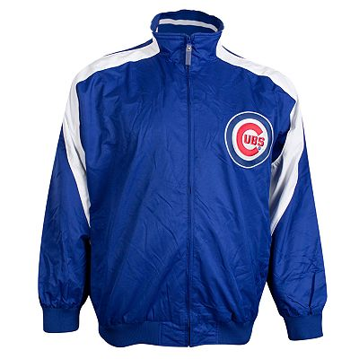 Majestic Chicago Cubs Colorblock Track Jacket - Big and Tall
