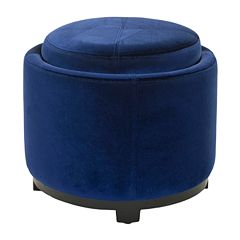 Safavieh Jasper Round Single Tray Storage Ottoman
