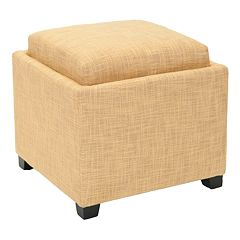 Safavieh Bennett Square Single Tray Storage Ottoman