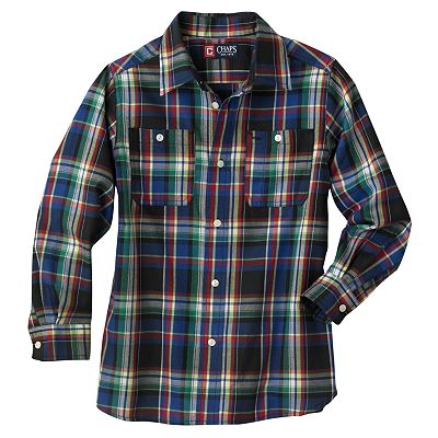 Chaps Plaid Work Button-Down Shirt - Boys 4-7